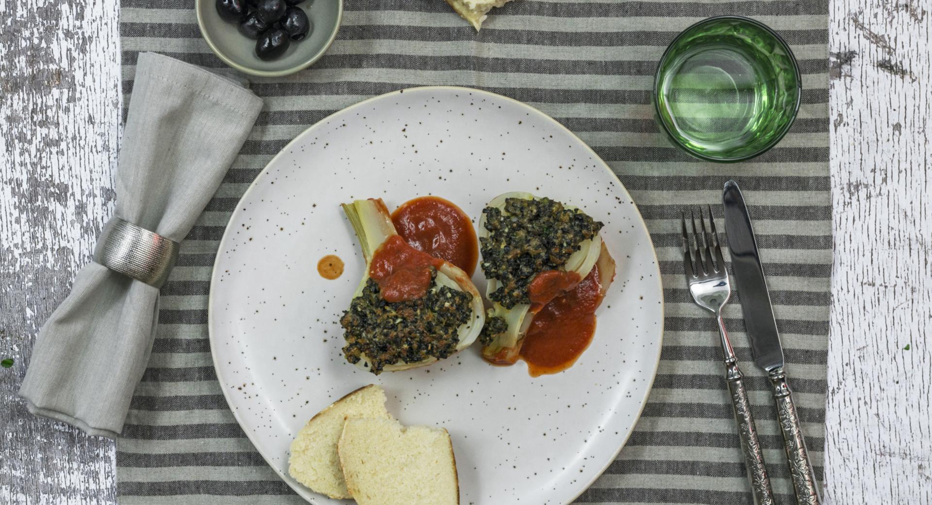 Finocchi in crosta di olive