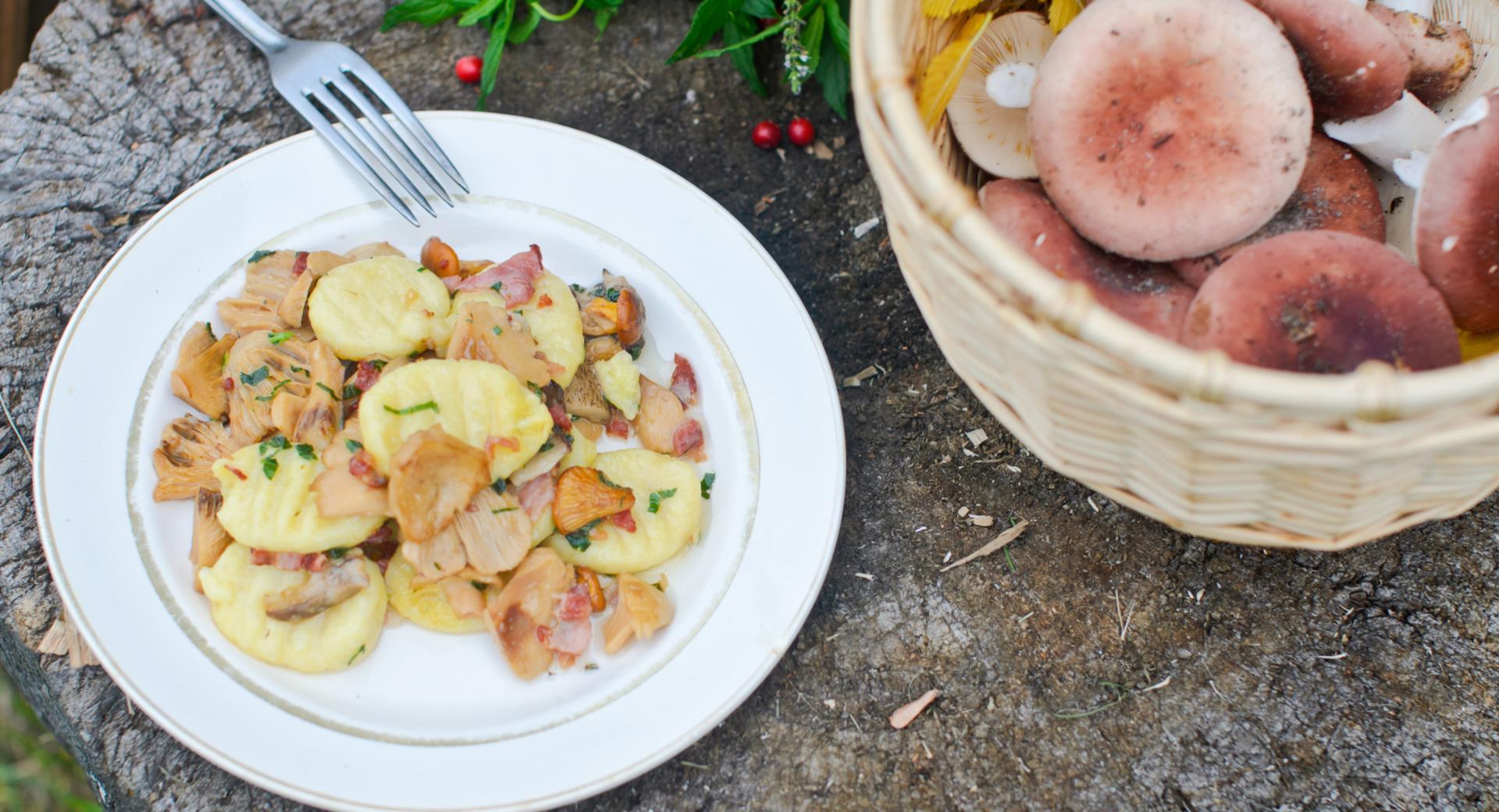 Gnocchi con porcini e castagne
