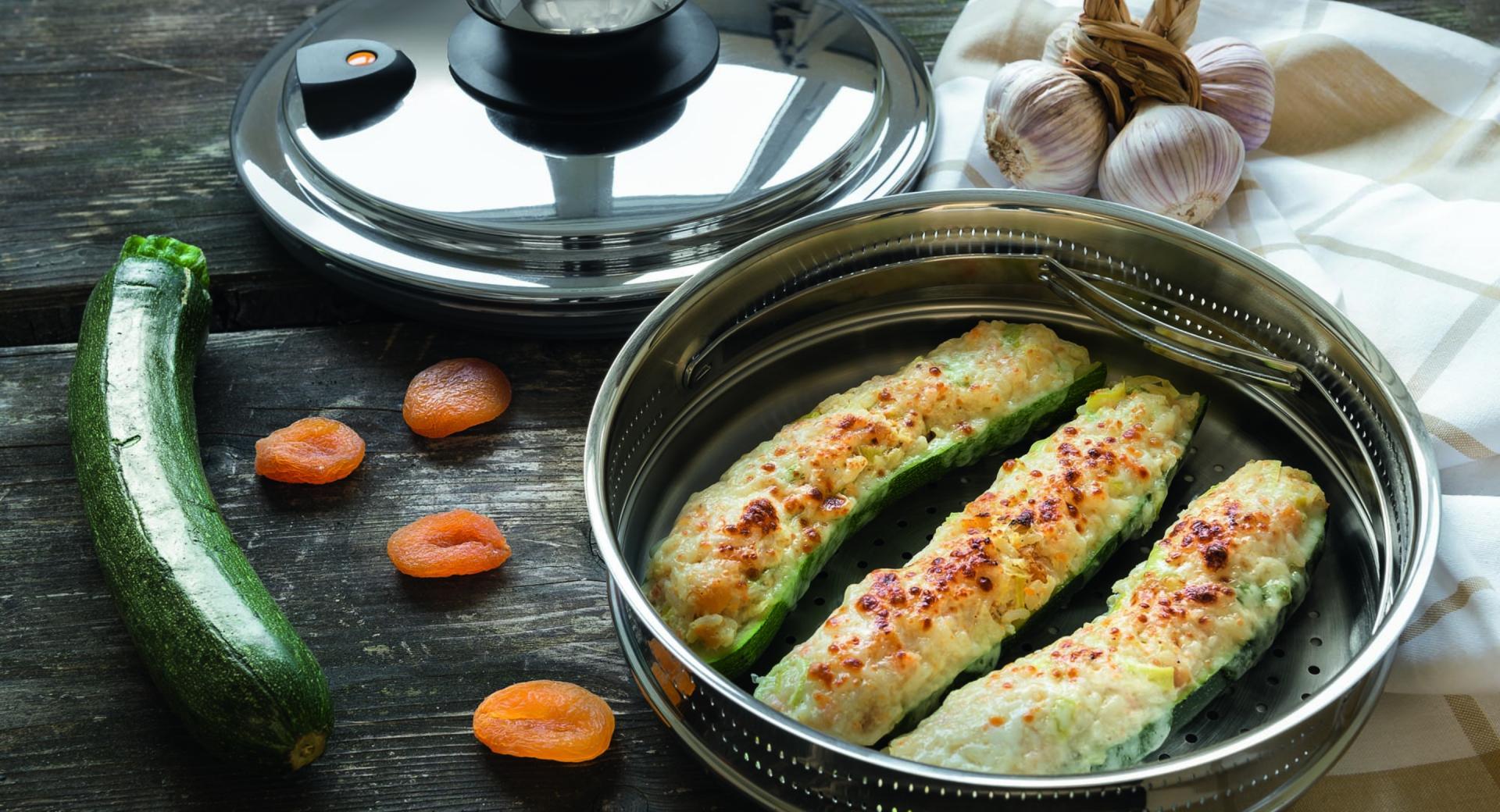 Barchette di zucchine con riso