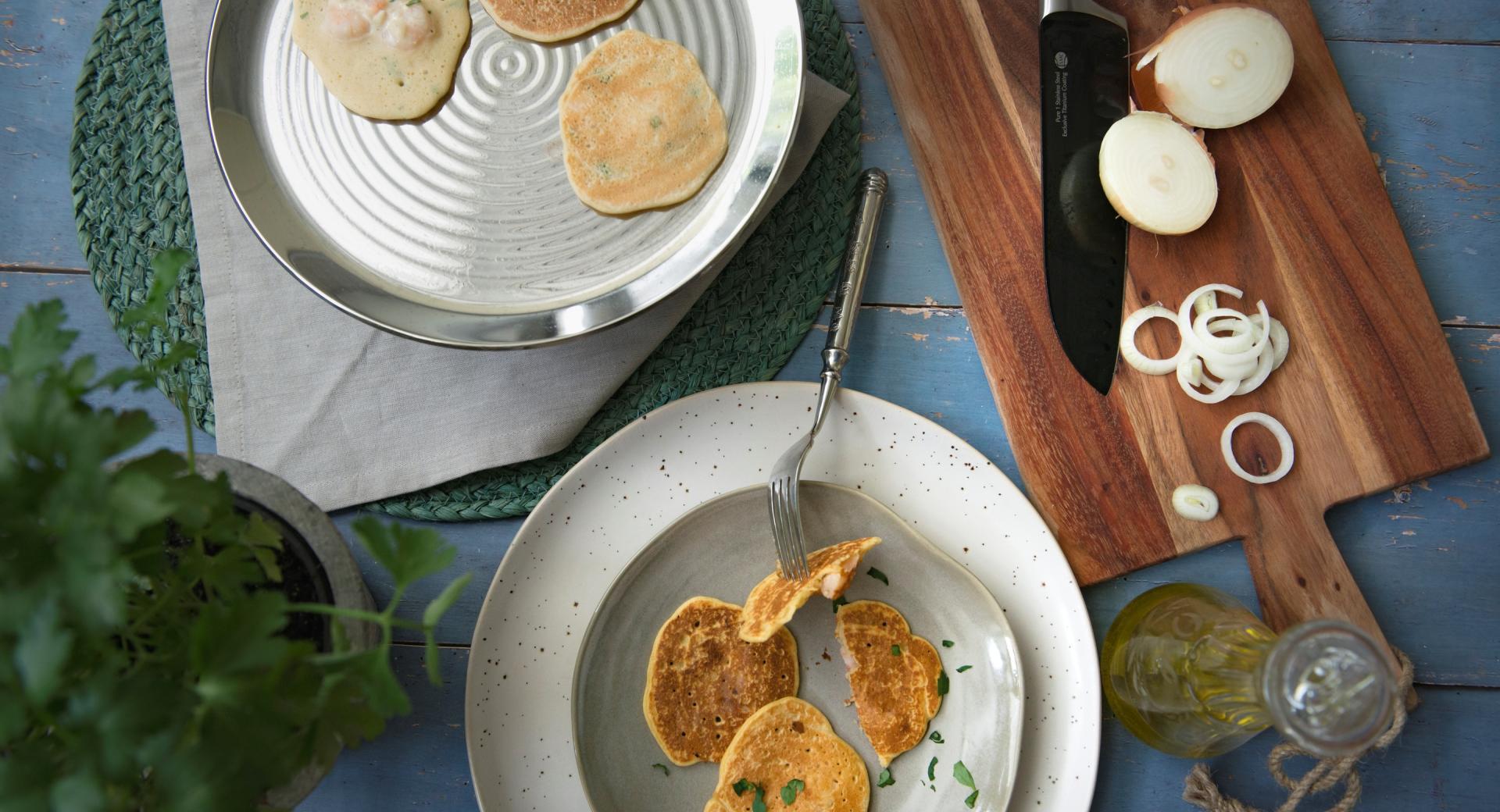 Omelette di gamberi