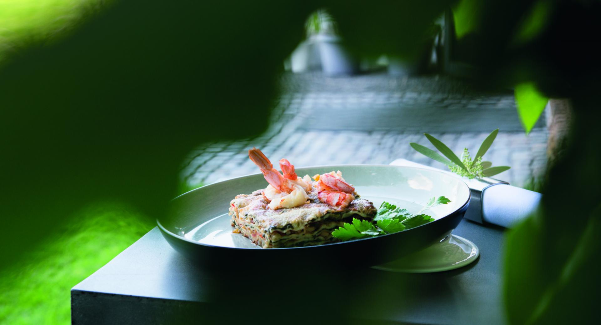 Lasagne con calamari e spinaci