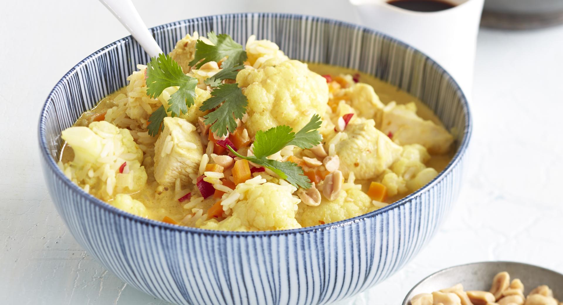 Curry di cavolfiore con pollo