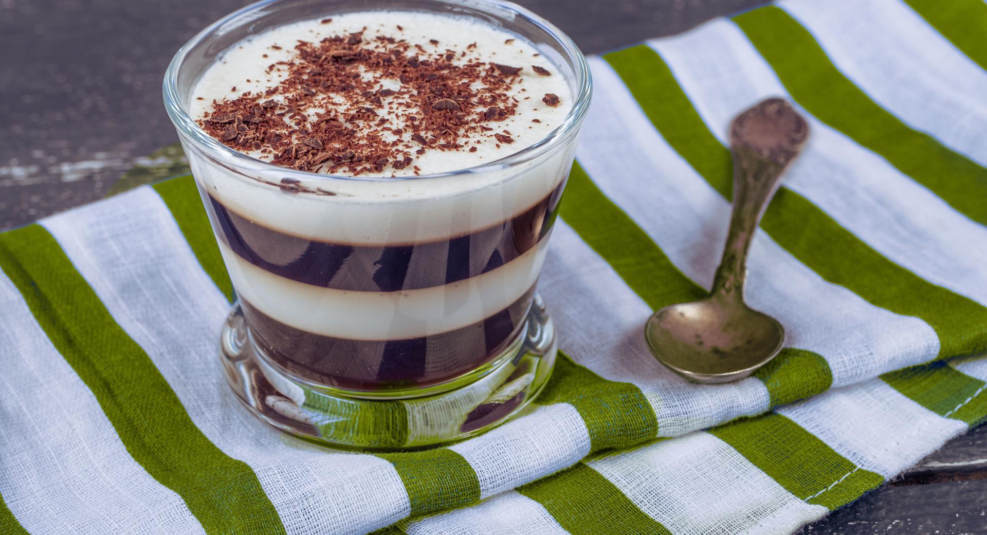 Mousse cioccolato e vaniglia