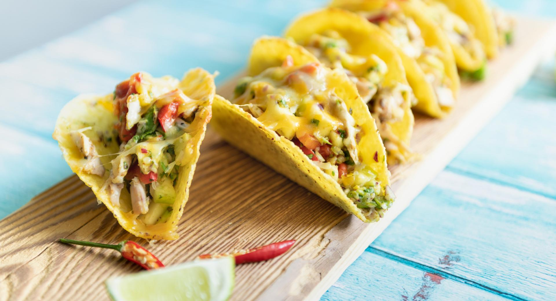Tacos gratinati