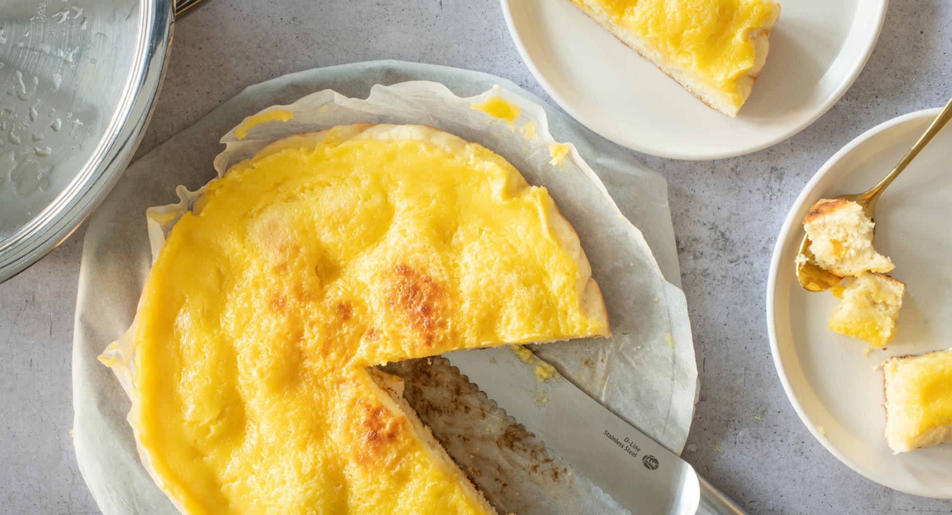 Torta alla panna di Murten (torta lievitata con glassa alla panna)