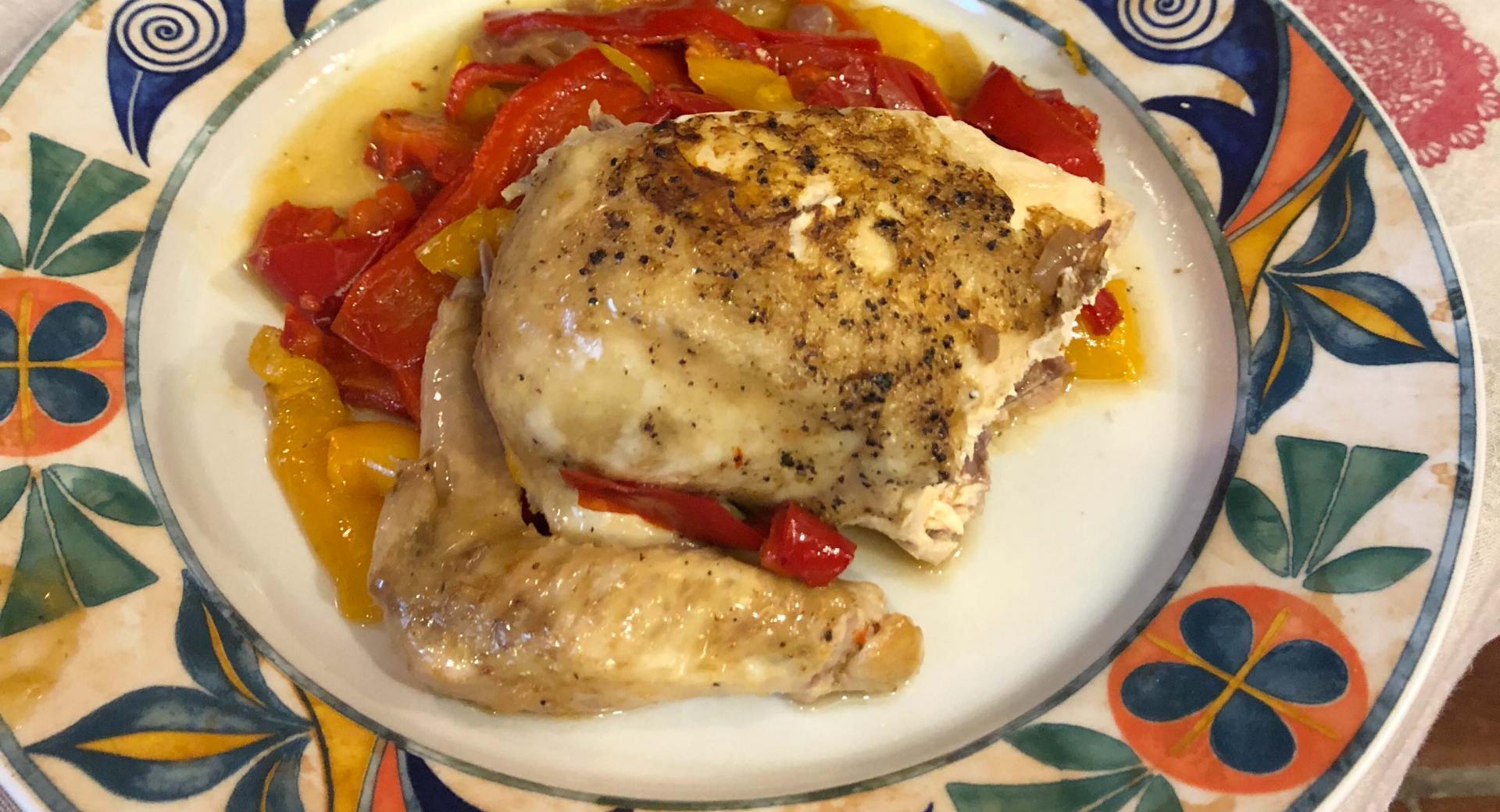 Pollo grigliato ai peperoni