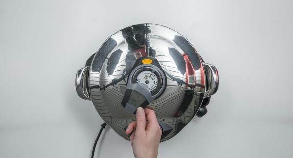 """Se la temperatura è troppo bassa, su Audiotherm compare """"+"""". Aumentare il calore."""