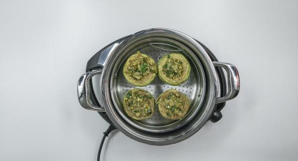 Inserire il cibo all'interno della Softiera e posizionarla nell'Unità di cottura.
