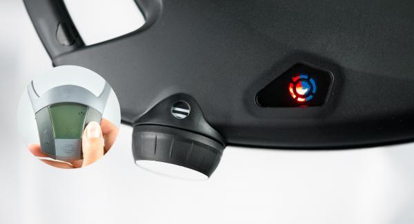 Impostare Navigenio a livello II e accendere Audiotherm con il tasto destro o sinistro.