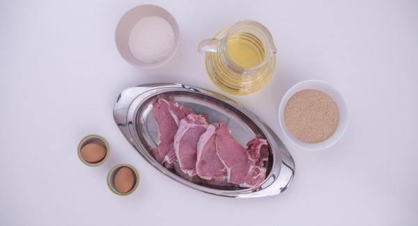 Disporre gli ingredienti sul tavolo.