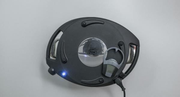 Per completare la doratura, impostare Navigenio a livello II e inserire un tempo di 2 minuti su Audiotherm.