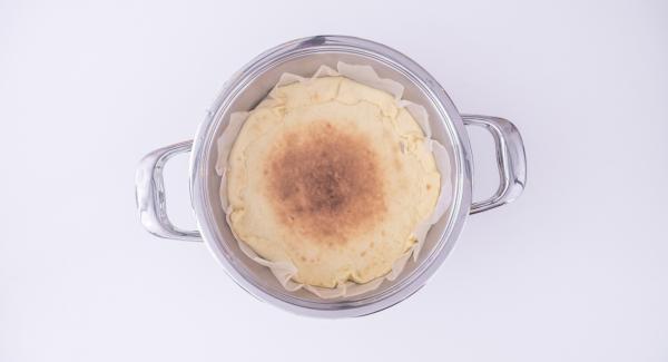Non appena si raggiunge una buona doratura, spegnere Navigenio e proseguire la cottura sfruttando il calore residuo.