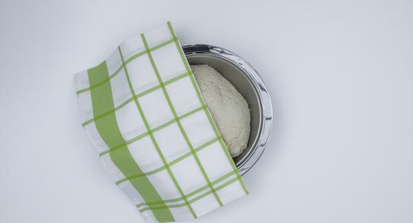 Versare la farina in una terrina e formare una fontana con un buco al centro. Sbriciolare il lievito e scioglierlo nell'acqua. Versare al centro l'olio, lo zucchero e il sale, quindi aggiungere il lievito di birra. Lavorare il tutto fino a ottenere una pasta liscia e malleabile. Coprire e far riposare in luogo tiepido finché il volume è chiaramente aumentato.