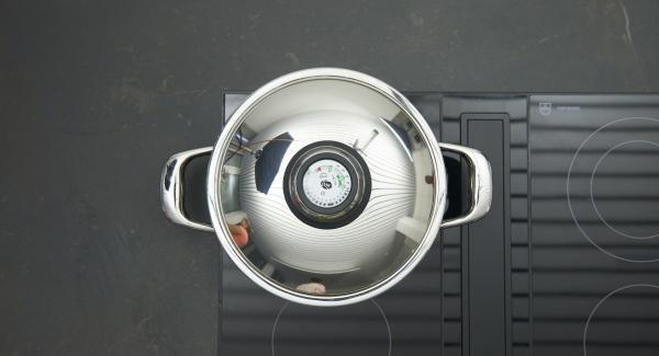 Adagiare gli gnocchi nell'unità di cottura e mettere il coperchio. Accendere il fornello al livello basso e cuocere per 25 minuti.
