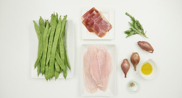 Disporre tutti gli ingredienti sul piano.