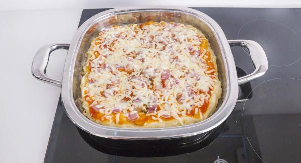 Al suono di Audiotherm, la pizza è pronta da servire.