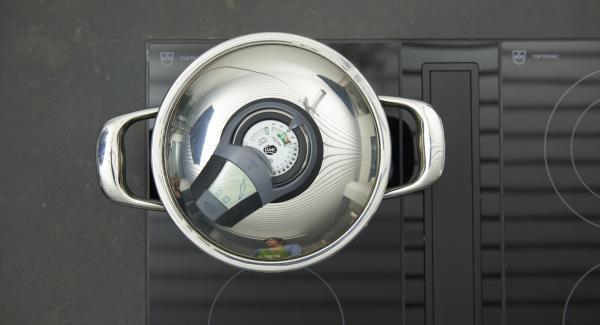 Al suono di Audiotherm, abbassare il calore e terminare la cottura.