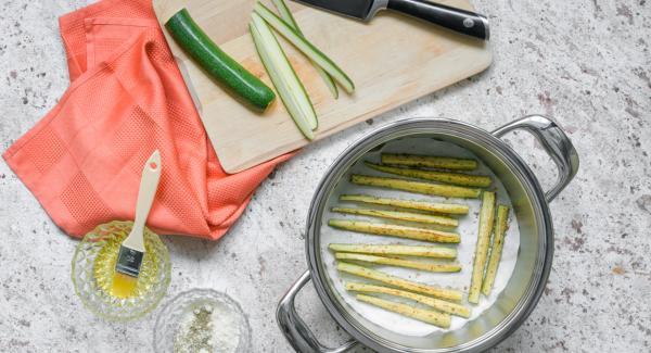 Bastoncini di zucchine gratinati