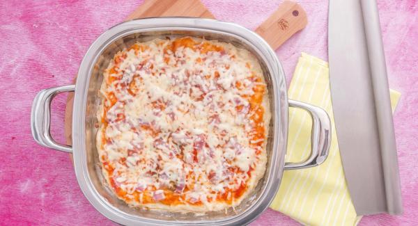 Pizza al prosciutto con Arondo