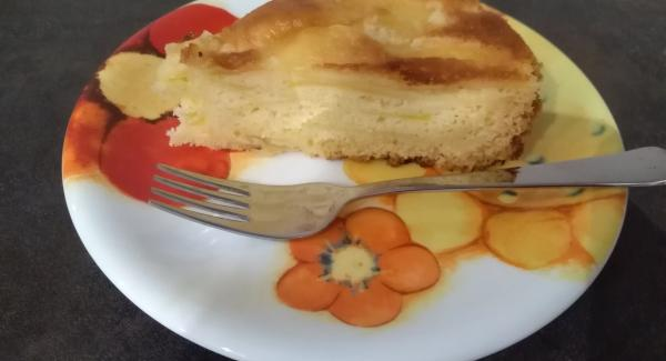 La torta è pronta! Buon appetito!