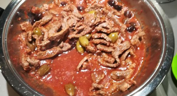 Straccetti di pollo alle olive