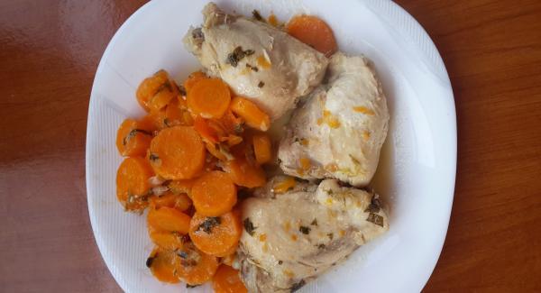 Pollo con carote e mandarini cinesi