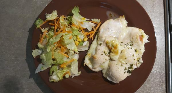Servire accompagnato con un po di insalata e buon appetito