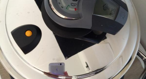 Metto Navigenio in modalità Automatica, imposto 6/8 minuti su Audiotherm e metto al simbolo vapore.