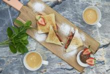Triangolini di fragole e nutella
